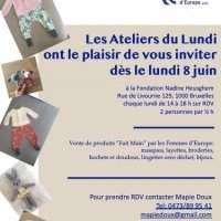 Les Ateliers du Lundi - Monday 29 June 2020 14:00-18:00