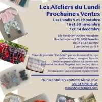 Les Ateliers du Lundi - Monday 19 October 2020 14:00-18:00